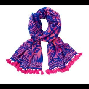Lilly Pulitzer Resort Scarf in Pink Sunset NWT